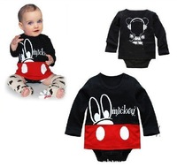 Free Shipping 4pcs/lot Cotton Baby Romper/ Infant Long Sleeve Bodysuits