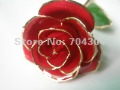 Gold rose+ giftboxes+12inch length real rose dipped in 24k gold for Valentine&#39;s Day Gift