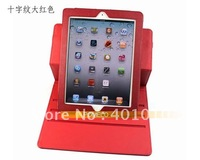 New 360 degree rotating smart leather cover case for apple ipad 3  free shipping by air mail 662
