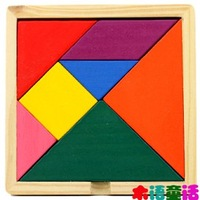 Free Shipping Children puzzle wooden toys Children 's educational toys color amazing puzzle Tangram