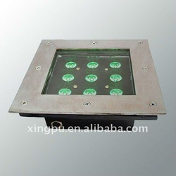 2012 HOT SALE solor power 24v 9W led undergroud light DMX512 control(China (Mainland))