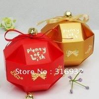 M1 Free shipping small ball shaped Wedding Candy Box, DIY favor box