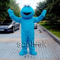 Plush Toy Street Cookie Monster Mascot Costume Character Adult Size Fancy Dress 4 Sale