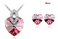 Free shipping wholesale mix!  crystal jewelry sets ,bridal jewelry sets ,make with Swarovski Elements ( 6-color)