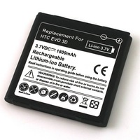 Wholesale New High Quality 1800mAh Rechargeable Li-ion Battery Replacement for HTC EVO 3D