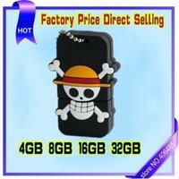 wholesale 5pcs/lot  Free shipping New Cartoon One Piece USB 2.0 Flash Memory Drive Thumb Stick 8GB
