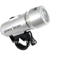 5 LED WATERPROOF BICYCLE FRONT LIGHT TORCH LAMP SILVER 40013