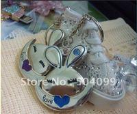 retail Metal keychain Rabbit shape 8GB USB flash memory drive pen drive pendrive free shipping