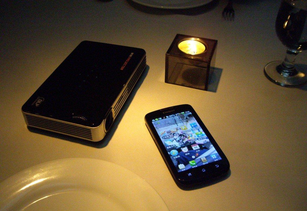 Mini Multimedia Pocket Cinema Pico Projector for i-Pod & i- Phone / DVD, Free Shipping(China (Mainland))