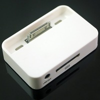 Free Shipping New Guareanteed 100%  White 1Pcs Universal Sync Dock Charger for Iphone 4 4G 4th +High Qaulity