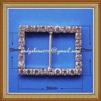 20mm iner bar rhinestone buckle