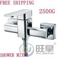 FREESHIPPING SINGLE HANDLE HOT & COLD WATER BRASS SHOWER  MIXER,FAUCET