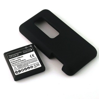 Free Shipping! 3.7V 3500mAh Extended Replacement Battery for HTC EVO 3D + Cover of Cell Phone