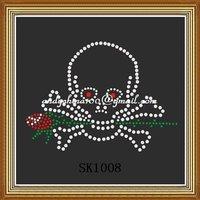 Skull rhinestone transfer motif