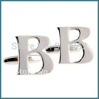 Alphabet Cufflinks, B Cufflinks, Letter Cufflinks, Initial Cufflinks