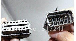 Диагностические кабели и разъемы для авто и мото Alansh Opel 10Pin OBD OBD2 16PIN 2