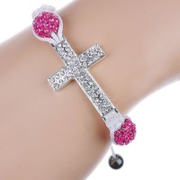 Free Shipping Fashion Jewelry cross  Infinite Multicolor Charm Leather Bracelet mix color