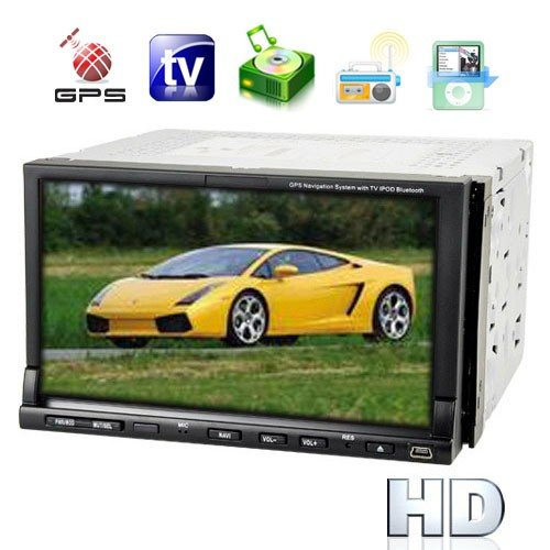 2-DIN 7 Inch TFT LCD Touchscreen Car DVD Player System - GPS Navigator(China (Mainland))