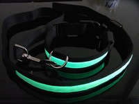 New LED flashing dog collar LED pet collar and leashes necklace/dog collars