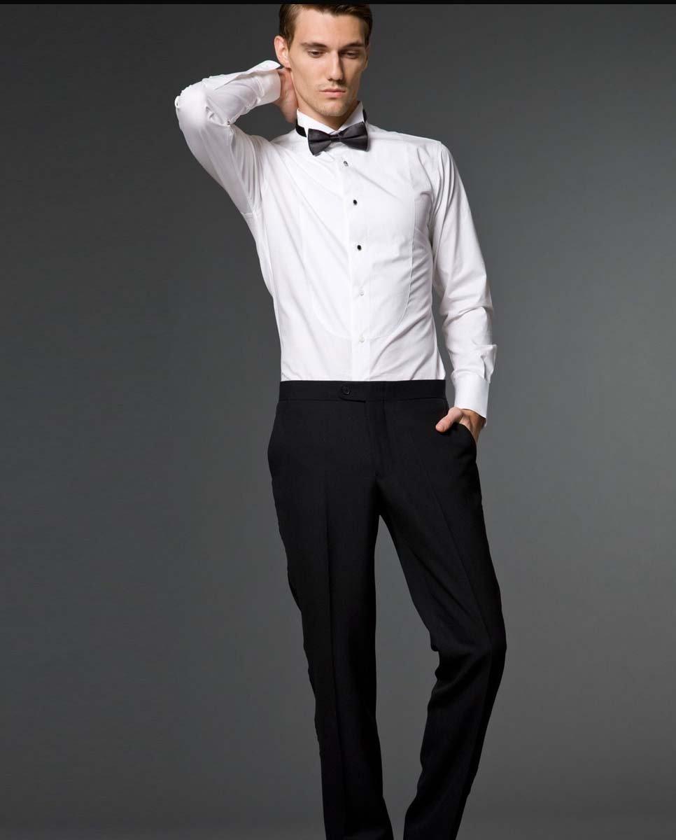 Wholesale 100 cotton wedding shirt custom made bowtie for Tuxedo shirt vs dress shirt