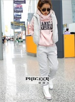 Женские толстовки и Кофты 15 off per $150 order 2012 women thinning sports hoodie suit, fashion women hoodies sweatshirts set