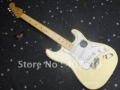 New  F yellow cream Stratocaster 6 string  cream  Electric Guitar !! Free shipping(China (Mainland))