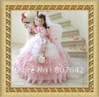 Free shipping 2013 Hot New style beautiful A-line beaded tulle junior girls' party dress flower girl wear princess dress Sky797