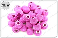 Free Shipping (200 pcs)Fashion Jewelry Accessories Basketball Wives Beads Wholesale And Retail+Size12mm+Rose Red Color AB024