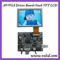 VGA+AV+OSD tft driver board KYV-N2 V1+5inch  tft lcd module AT050TN22 640*480 4:3 TFT LCD display