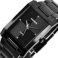 Top Brand All Black Wilon Stainless Steel Quartz Watch Men Wrist Watch Gift Free Shipping