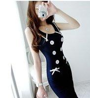 S-L free shipping manufacturers supply Women's Sweet printed Chiffon Dress(MOQ: 1pc) #Z0054