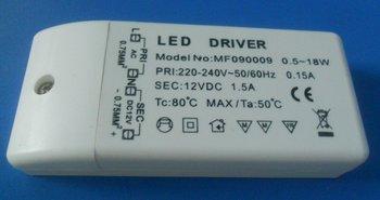 12V/18W constant voltage led driver,AC220-240V input