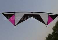 2.1M quad kites/power stunt kite with lines and handles/ Free Shipping