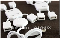 200pcs/lotHigh Speed 4 Ports USB 2.0 Hub, Mini Man USB HUB free shipping