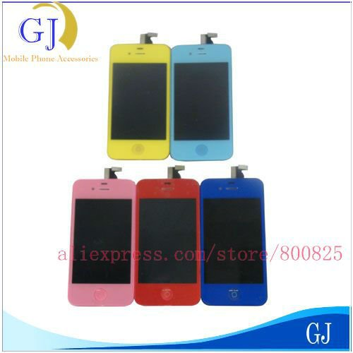 For iPhone 4 4G CDMA VERSION LCD Display+ Touch Screen Glass +Frame,EMS or DHL Free Shipping,Complete,Brand New Black