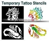 Товары для макияжа 6 pcs - Glitter Tattoo Powder for Body Art - Temporary Tattoo/ body painting Kit - w/ Brushes / Glue / Stencils