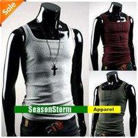 Retail Mens  Classic Cotton Slim Vest /Men's Tank Top  (SU-04)