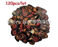 Lots of 120 Pcs Assorted 0.71mm Medium Guitar Picks Plectrums 2-side color printing 12 designs
