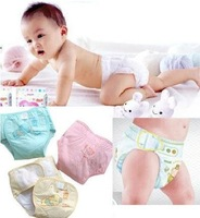 Min Order $20 (mixed order) Retail Cartoon Cotton Baby Diaper / Infant Sleep Diaper Cover / Baby Napkin 3 Color  (HO-06)