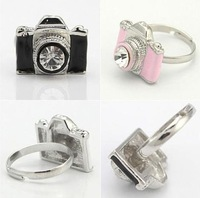 Min Order $20 (mixed order) Retail 3 Color Camera Finger Ring / Fashion Gift Ring Jewelry  (SW-13)