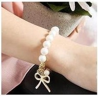 Min Order $20 (mixed order) Retail Fashion Bowknot Synthesis Beads Bracelet Jewelry / Gift Wristband  (SW-79)