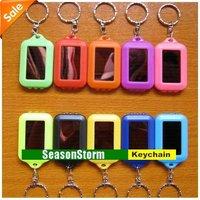 Mixed Color Solar LED Light Keychain / Mini Flashlight Key Ring (SC-29)