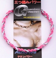 "Free shipping rope 20"" Titanium Tornado Baseball Softball Necklace Pink"