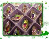 Free Shipping Sew On Crystal Crystal AB Color Eye Shape Shiny Stone High Quality