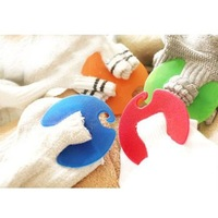 Free shipping sock clips 5 colors packed blister card