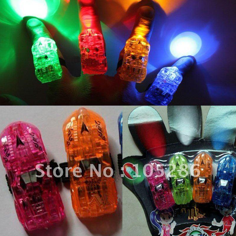Wholesale New Car shape LED Finger light Laser finger light ring 4pcs/pack Finger light toys 480pcs(120packs)/lot Free shipping(China (Mainland))