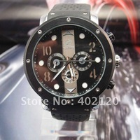 fashion watch men Free Shipping Mechanical Watch Black Silicone Band Sport Watchs #QWJX020