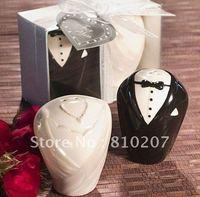 Hot  50pcs/lot=25sets/lot Bride and groom Salt and pepper shaker Bride shower favors