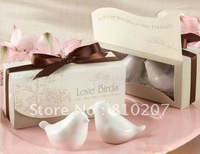 50 SETS/LOT  Love birds salt and pepper shaker wedding favors and gifts Free Shipping