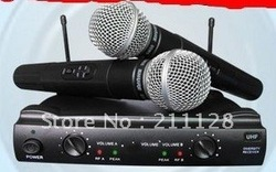 Reduced prices Radio microphone wireless microphone KTV family wedding stage microphone 2pcs(China (Mainland))